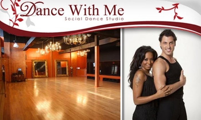 Dance With Me - Multiple Locations: $45 for Any Four-Week Dance Class and Four Dance Socials at Dance With Me (Up to $98 Value)