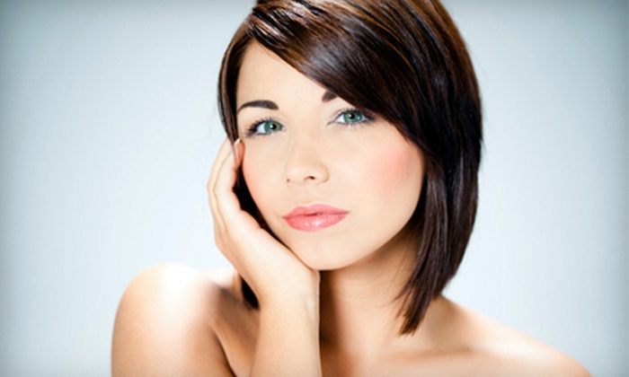 Distinction Salon - Oriole Gardens: Women's Haircut with Gloss, Color, or Highlights or Men's Haircut at Distinction Salon in Margate (Up to 69% Off)