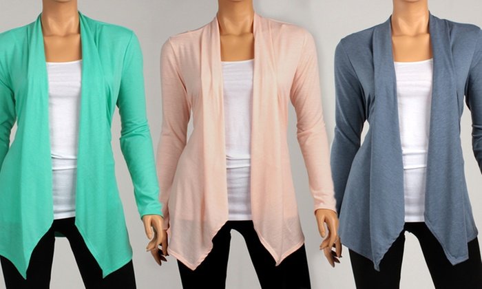 Spring Draped Cardigans | Groupon Goods