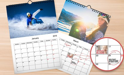 image for Up to Five Personalised Wall Calendars from Printerpix (Up to 78% Off)