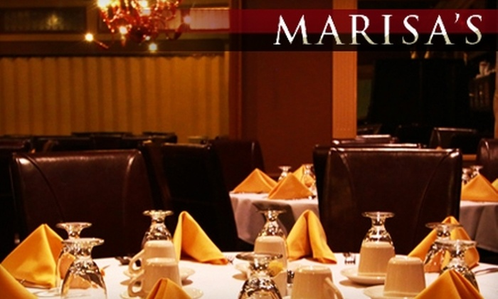 Marisa's Ristorante - Trumbull: $25 for $50 Worth of Italian Cuisine and Drinks at Marisa's Ristorante in Trumbull