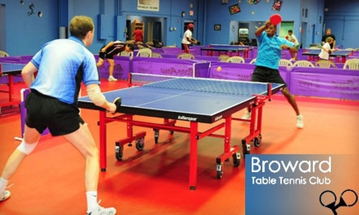 Broward Table Tennis Club   Dania Beach: $10 For Five Admissions ($50 Value)
