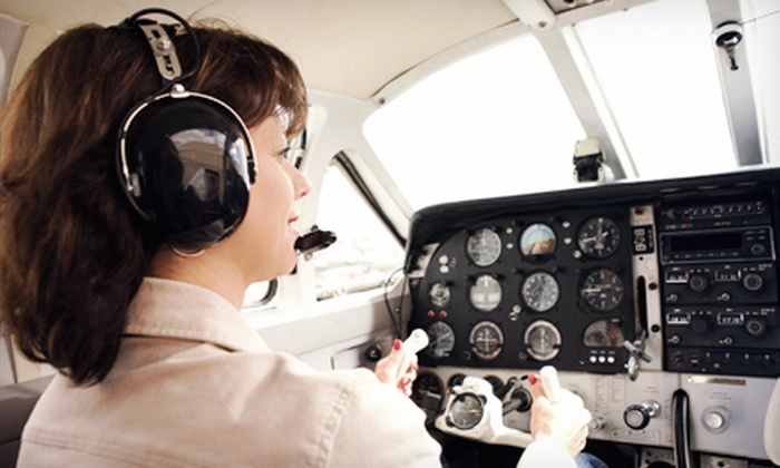 Miami Flight Seeing - ATA Flight School: Discovery Flight Tour for One or Romance Airplane Tour for Two from Miami Flight Seeing (Up to 51% Off)