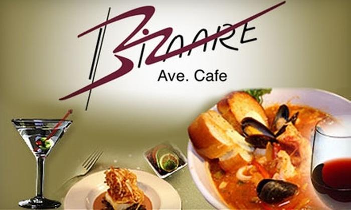 Bizaare Ave Café - Palm Beach: $25 for $50 Worth of Dinner at Bizaare Ave Café (or $10 for $20 Worth of Lunch)