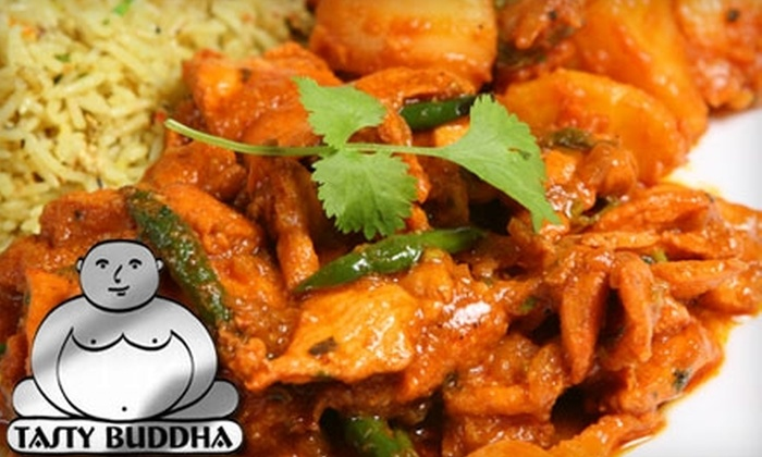 Tasty Buddha - Grove Street: $5 for $10 Worth of Eclectic Fare at Tasty Buddha