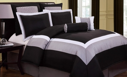 Hotelier 8-Piece Reversible Comforter Set. Multiple Options Available. Free Returns.