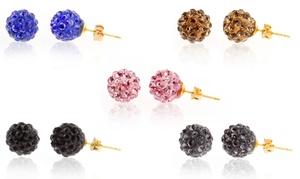 5-pack Of Crystal Pavé Ball Stud Earrings