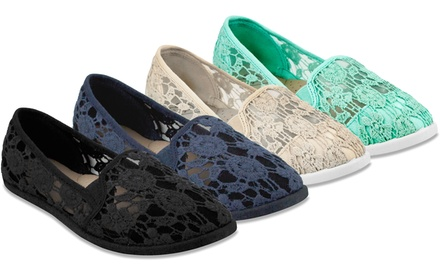 143 Girl Panna Women's Crocheted Lace Flats. Multiple Colors Available. Free Returns.