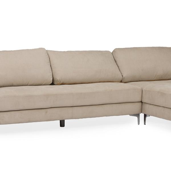 Brilliant Baxton Studio Agnew Contemporary Microfiber Right Facing Sectional Sofa Uwap Interior Chair Design Uwaporg