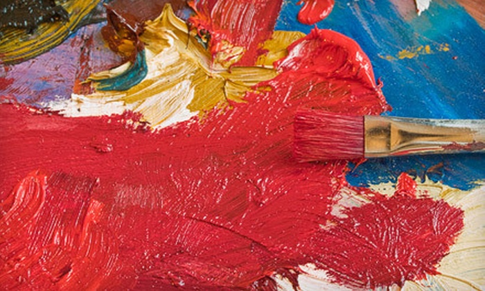 Canvas and Conversation - Business 41: Evening Painting Class for One or Two at Canvas and Conversation (Up to 52% Off)