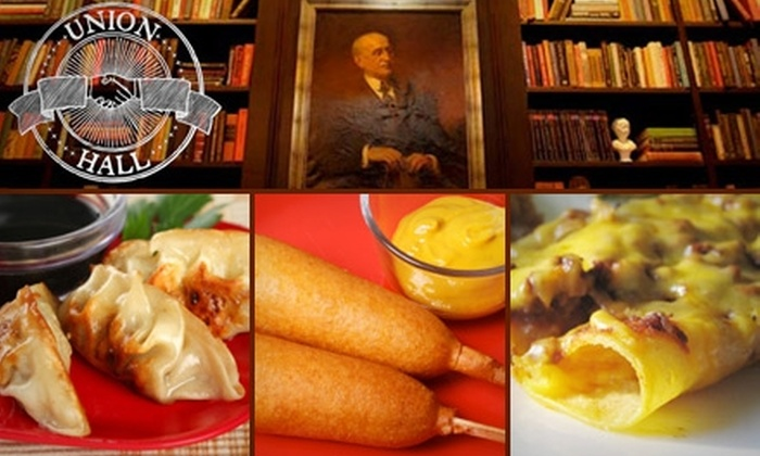 Union Hall - Park Slope: $10 for the Union Sampler Appetizer Plate with Two PBRs at Union Hall ($21 Value)
