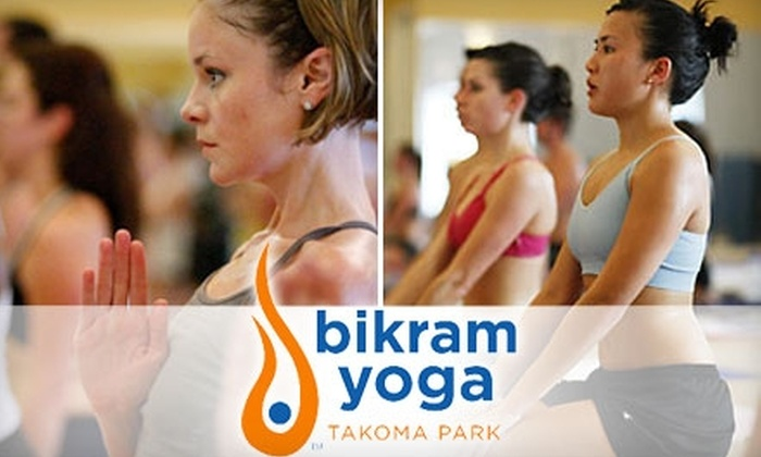 Bikram Yoga Takoma Park - Takoma - DC: $25 for a Five-Class Punch Card Plus Mat Rental at Bikram Yoga Takoma Park
