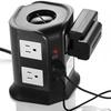 Safemore 8-Outlet 4-USB Smart Desktop Surge Protector