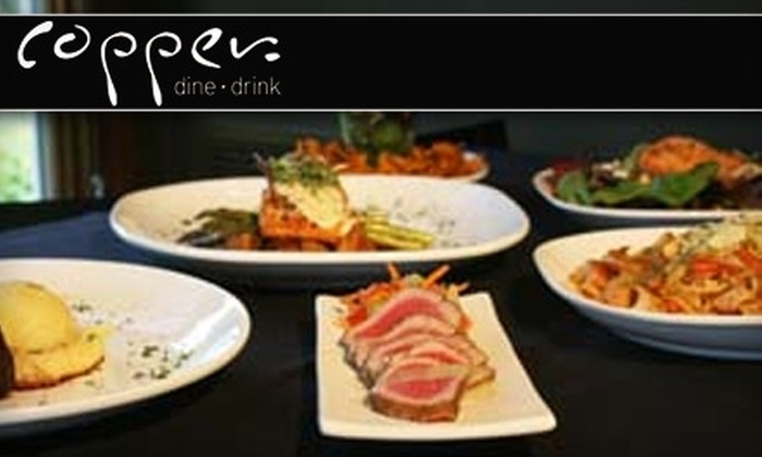 Copper Dine and Drink - Meridian: $15 for $30 Worth of American Fare and Drinks at Copper Dine and Drink