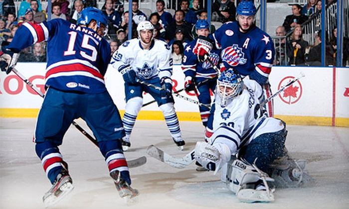 Toronto Marlies - Toronto: Toronto Marlies Playoff Hockey Game at Ricoh Coliseum on April 27 or 28 (Up to 36% Off). Three Seating Options.