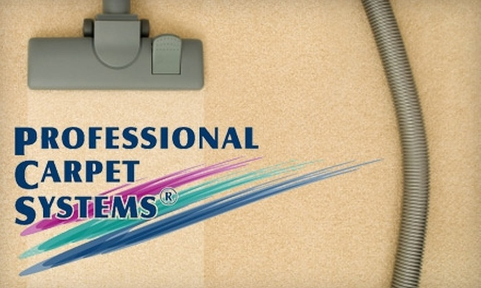 Professional Carpet Systems - Huntsville: $99 for a Three-Room Carpet Cleaning from Professional Carpet Systems (Up to $237 value)