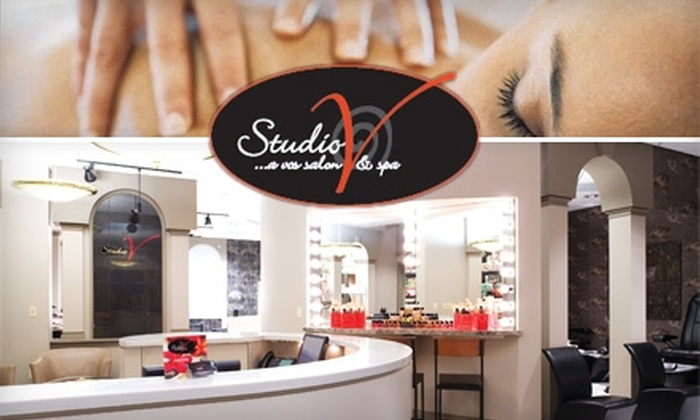 Studio V - Akron / Canton: $29 for a Personalized Facial or Swedish Massage at Studio V (Up to $85 Value)