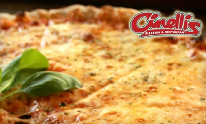 Cinelli's Pizzeria & Restaurant - Raleigh / Durham: $10 for $20 Worth of Authentic Italian Fare and Drinks at Cinelli's Pizzeria & Restaurant