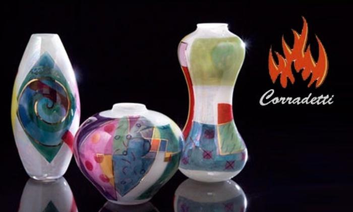 Corradetti Glass Studio - Woodberry: $25 for $55 Worth of Merchandise and Glass-Blowing Classes at Corradetti Glass Studio