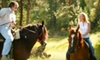 Sleepy Sheep Ranch - Whitewright: $119 for a Three-Hour Horseback Ride and a Pond-Side Organic Dinner with Lamb, Steak, or Chicken and Wine for Two at Sleepy Sheep Ranch in Whitewright ($240 Value)