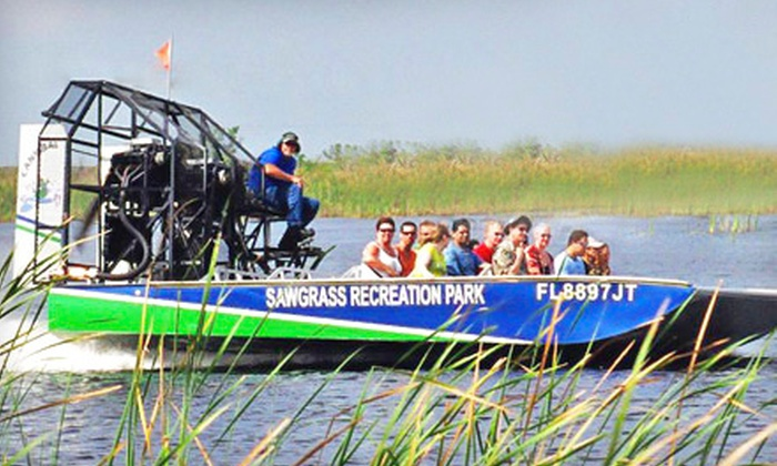Sawgrass Recreation Park - Weston: Recreation Package for Two or After-Dark Airboat Ride for Two at Sawgrass Recreation Park in Weston (Up to 53% Off)