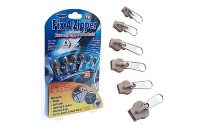 1 ou 2 Kits de 6 zippers pour réparation