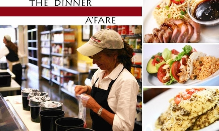 The Dinner A'Fare - Phoenix: $45 for Six Pre-Assembled Meals (Serving 3 People Each) by Dinner A'Fare