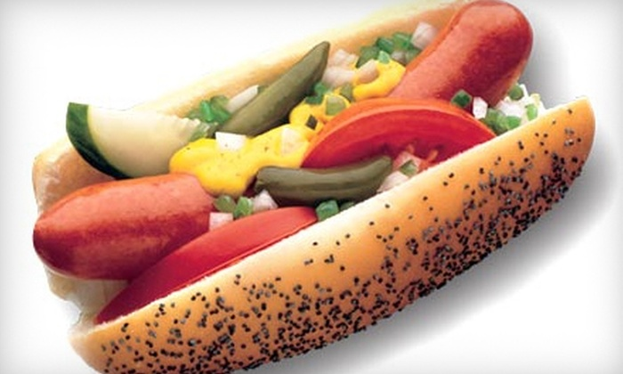Johnny Chicago's - Midtown: $9 for $18 Worth of Chicago-Style Hot Dogs and Italian-Beef Sandwiches at Johnny Chicago's