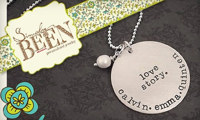 Simply Been: $15 for $30 Worth of Personalized Jewelry at Simply Been