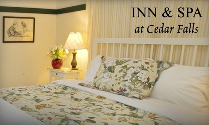 Inn at Cedar Falls - Benton: $237 for a Two-Night Stay for Two Plus a Bottle of Wine, Cheese Plate, and More at the Inn & Spa at Cedar Falls in Logan (Up to $435 Value)