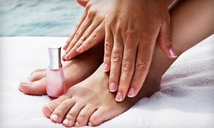 Spa on the Boulevard - North Central: $35 for Organic Spa Pedicure and Shellac Manicure at Spa on the Boulevard in Virginia Beach ($80 Value)