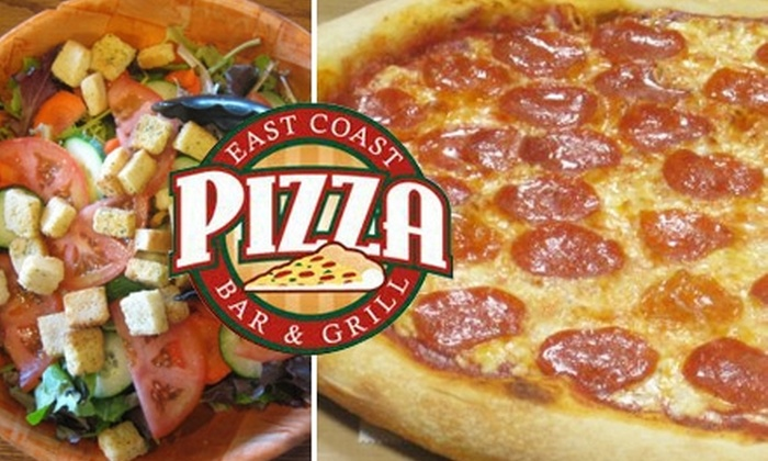 East Coast Pizza Bar and Grill - Downtown Walnut Creek: $10 for $20 Worth of Pizza, Sandwiches, and More at East Coast Pizza Bar and Grill