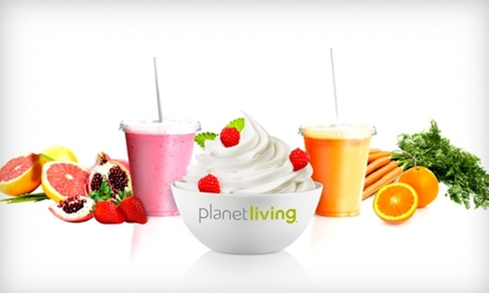 Planet Living - Piedmont Heights: $5 for $10 worth of Smoothies, Frozen Yogurt, and More at Planet Living