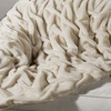 Ruched Twisted Faux-Fur Throw Blankets