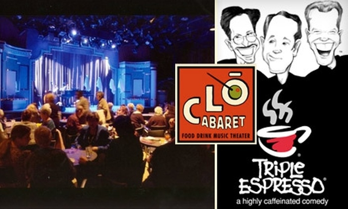 """Triple Espresso"" - Downtown: $20 Ticket to ""Triple Espresso"" at Pittsburgh Clo Cabaret. Choose from Five Shows."