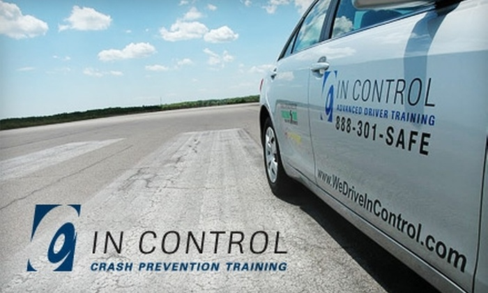 In Control - Multiple Locations: $150 for a Crash Prevention Driving Course from In Control ($299 Value). Choose from Four Different Locations.