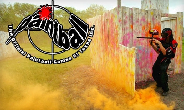 Official Paintball Games of Texas - Forney: $40 for Paintball with Equipment, Paintballs, and Lunch for Two at Official Paintball Games of Texas in Forney ($90 Value)
