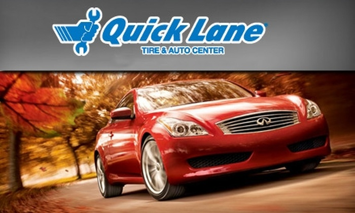 Quick Lane Tire & Auto Center - Clay: $15 for a Full Oil Change at Quick Lane Tire & Auto Center in Zionsville ($29.95 Value)