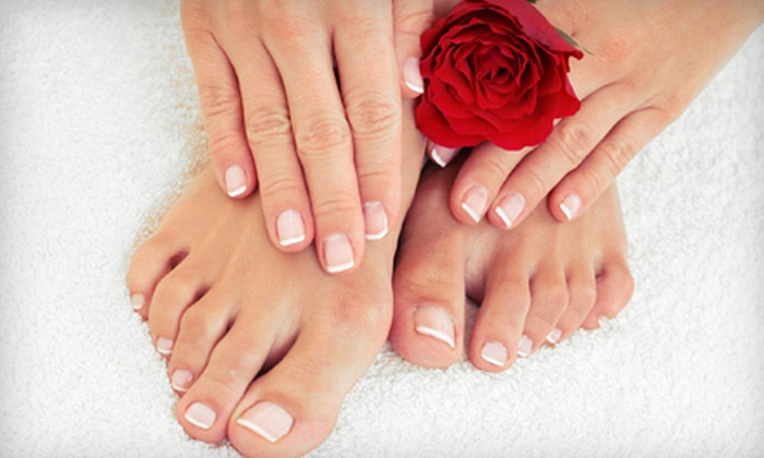 Tips & Toes by Gigi - Bowman Acres: Spa Mani-Pedi or Shellac Manicure and Spa Pedicure with Foot Mask at Tips & Toes by Gigi in Greenfield (Half Off)