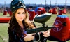 Paintball International - Multiple Locations: All-Day Paintball Package for 4, 6, or 12 with Equipment Rental from Paintball International (85% Off)