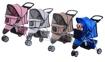 PawHut ThreeWheel Pet Stroller