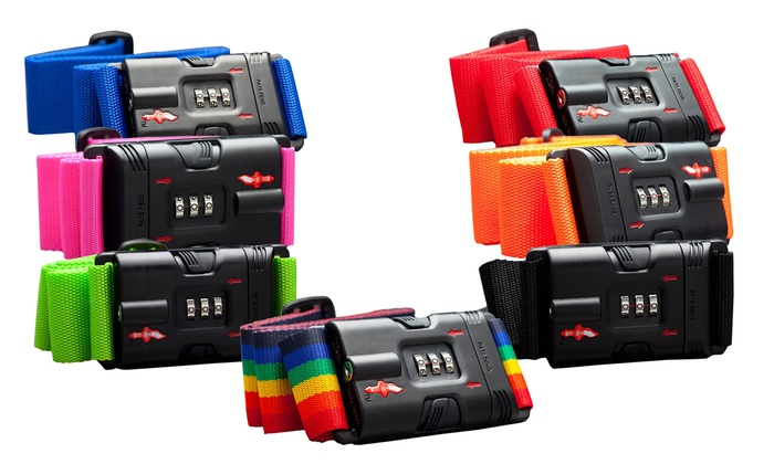 TSA-Recognized Locking Luggage Strap | Groupon