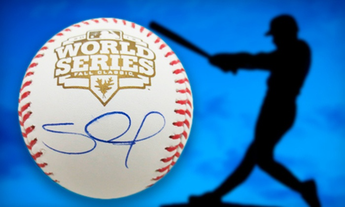 Powers Collectibles: $169 for a 2012 World Series Baseball Signed by Pablo Sandoval from Powers Collectibles ($399 Value)