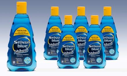 Selsun Blue Itchy Dry Scalp Dandruff Shampoo; 6-Pack of 11 oz. Bottles + 5% Back in Groupon Bucks