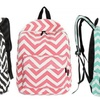 Chevron-Pattern Backpack with Back-to-School Essentials