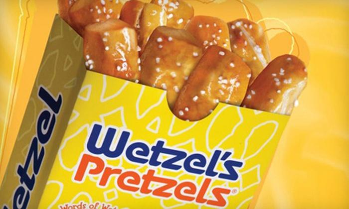 Wetzel's Pretzels - Kaneohe: Five-Visit Punch Card or $5 for $10 Worth of Freshly Baked Pretzels at Wetzel's Pretzels