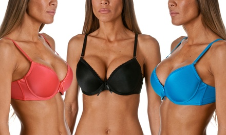 Riverberry Women's Lace-Detailed Demi-Bras (6-Pack)