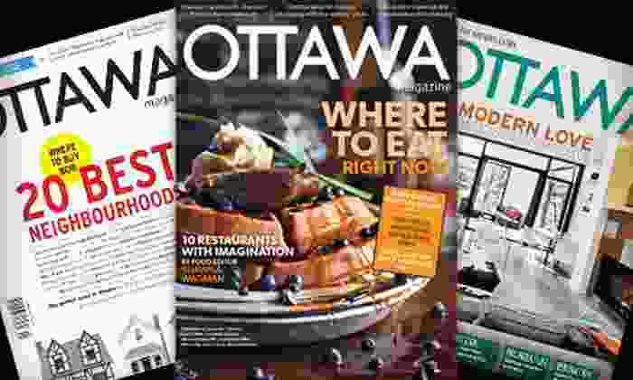 """Ottawa Magazine - Downtown Toronto: $15 for a One-Year Subscription to """"Ottawa Magazine"""" ($30.51 Value)"""