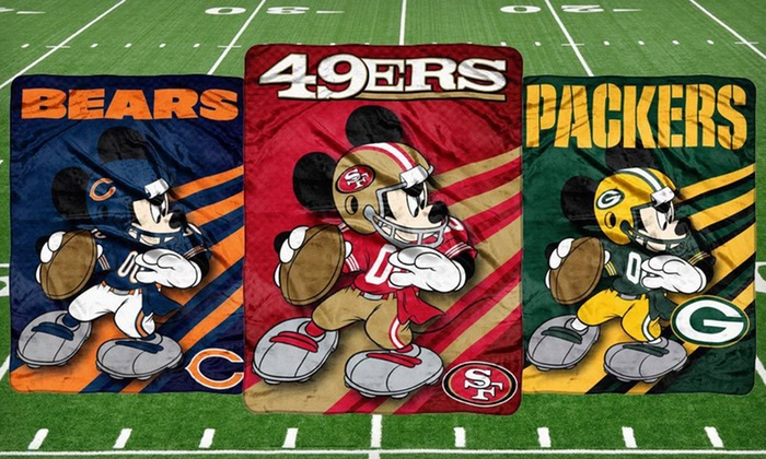 NFL/Disney's Mickey Mouse Throw Blanket: $19 for Plush NFL Throw with Disney's Mickey Mouse in Team Uniform ($29.99 List Price). Free Shipping and Free Returns.
