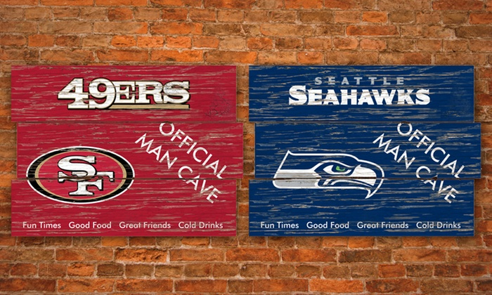 NFL Plank Man Cave Signs: NFL Plank Man Cave Sign. Multiple Teams Available. Free Returns.